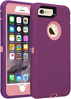 Co-Goldguard Case for iPhone 7 Heavy Duty iPhone 8 Case Armor 3 in 1 Built-in Screen Protector Rugged Cover Dust-Proof Shockproof Drop-Proof Scratch-Resistant Shell for iPhone 7/8 4.7