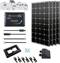 Renogy 400 Watt 12 Volt Monocrystalline Eclipse Solar RV Kit with 30A Adventurer Negative-Ground Charge Controller & Corner Bracket Mount, 400MB, 400MB