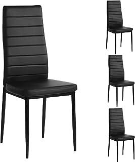 Aingoo PU Leather Dining Chairs Set of 4, Modern Kitchen...