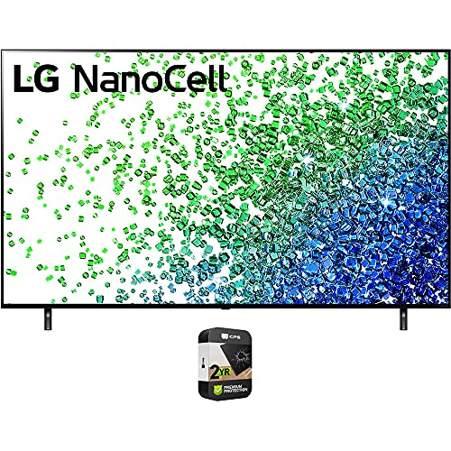 LG 75NANO80UPA 75 Inch HDR 4K UHD Smart NanoCell LED TV 2021 Bundle with Premium 2 Year Extended Protection Plan