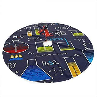CKSAHD Geek Chic Large Allover Navy Christmas Holiday Tree Skirt, Round 35.5 Inches, Simple Christmas Tree Holiday Decoration.