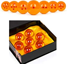 WeizhaonanCos Unisex Acrylic Resin Transparent Stars Balls Glass Ball Dragon Ball Cosplay Props Kids Play Toy Gift Set of 7pcs 43mm/1.7 in in Diameter (Orange)