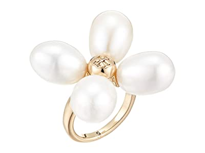 Tory Burch Pearl Clover Ring (Tory Gold/Tory Gold) Ring