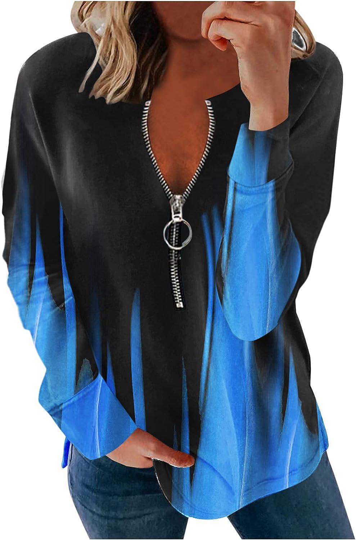 Jaqqra Sweatshirts for Women Causal Tie Dye 1/4 Zip Sweatshirts Long Sleeve Pullover Tops Activewear Running Jacket