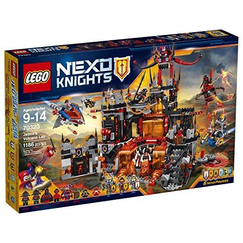LEGO Nexo Knights 70323 Jestro s Volcano Lair Building Kit (1186 Piece) by LEGO