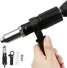 Professionell Rivet Gun Adapter Kit med 4sts Olika matchande munstycksbultar, skiftnyckel och klämfäste för trådlös borr m...