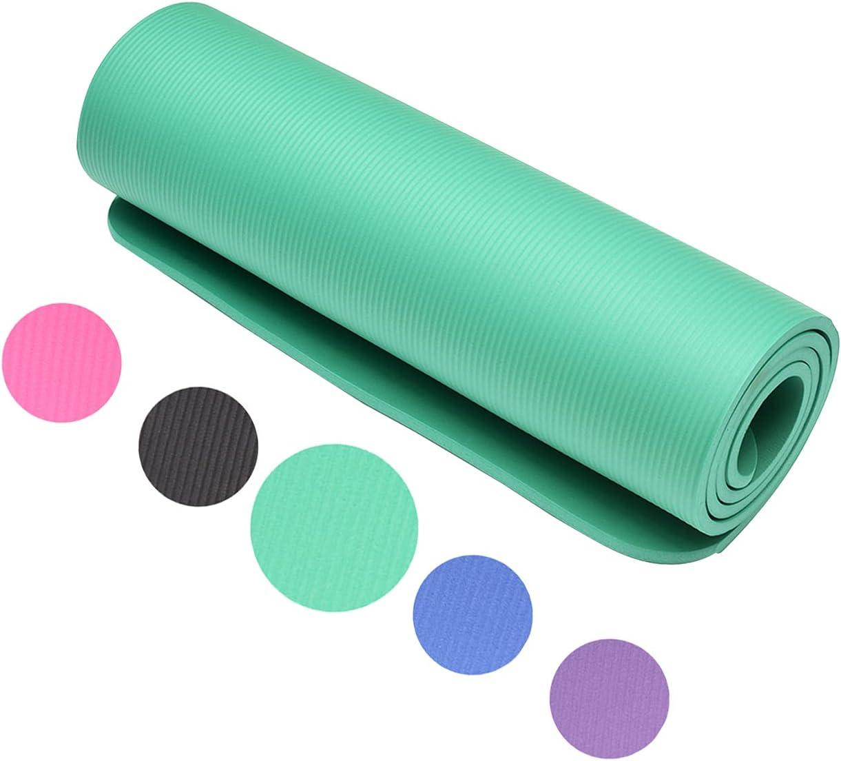Yoga Max 43% OFF Mat BOBOHOO 10mm NBR Non-Slip Foam Comfort Fitnes Branded goods