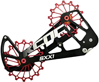 KCNC SXX1 MTB Bicycle Oversized Pulley Wheel Cage OSPW for SRAM Eagle, Red, SK1958