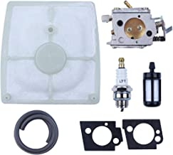 Haishine Carburetor with Fuel Filter Line Air Filter Spark Plug Fit STIHL 041 041AV 041 Farm Boss