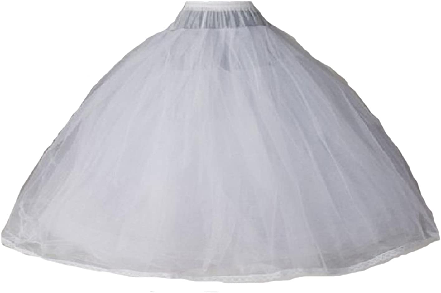 Dearta Women's 8 Layers Tulle Ball Gowns Dresses Petticoats with No Rings