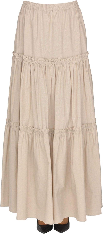 TWINSET Women's MCGLGNN000005002E Beige Cotton Skirt