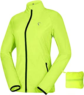 Women's Windproof Water Resistant Convertible Cycling Running Jacket