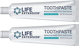 Life Extension, Toothpaste, Natural Mint Flavor, 4 oz (113.4 g)(pack of 2) by Life Extension