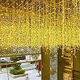 Avoalre Cortina de Luces LED 4 * 0.6m/144 LED Guirnalda Luces Decorativas 8 Modos Función de Memoria Impermeable IP44 Decoracion Luz Navidad, Festivales, Bodas, Casa - Blanco Cálido
