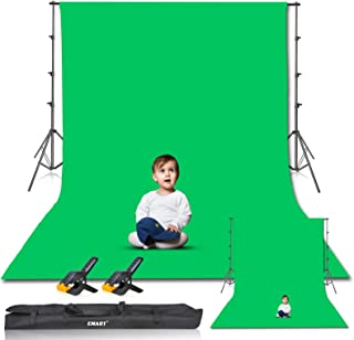 Emart Photo Video Studio 8.5 x 10ft Green Screen Backdrop Stand Kit, Photography Background Support System with 10 x12ft 1...