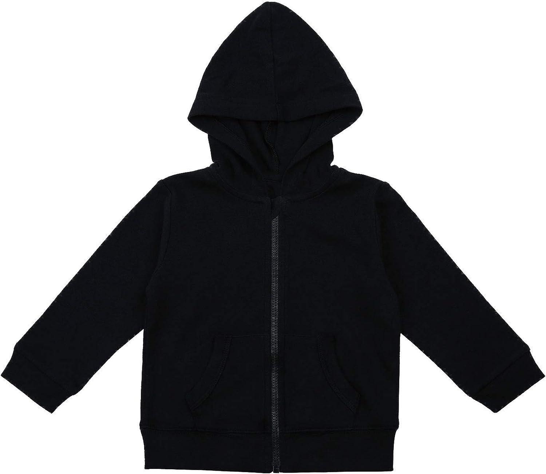 RomperinBox Unisex Solid Baby Sweatshirts Hoodies, Lightweight Full Zip-up Jackets Coat 0-24 Months