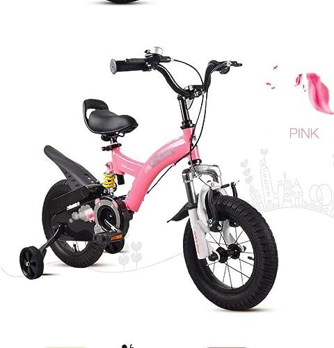 LJFYMX Vélo de Garçon Vélo Tout-Terrain pour vélo Tout-Terrain d'amortisseur pour Enfants, Couleur Rouge, 16 Pouces Vélo de Montagne ( Couleur   rose , Taille   B )