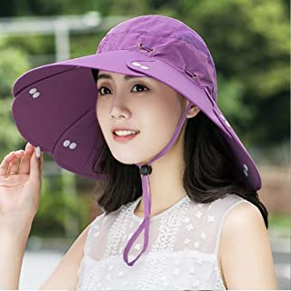 CJC Sombreros para El Sol Gorra De Pesca De Secado Rápido Unisex Navegación, Deportes Al Aire Libre, Jardinería, Montañismo (Color : Púrpura)