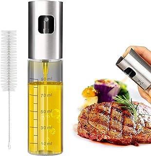 MYITIAN Bottiglia in Acciaio Inox condimento Kit scatole Europeo delle spezie saliera in Vetro Cucina Forniture-A