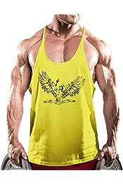 Alivebody Uomo Bodybuilding carro armato della maglia top senza maniche Undershirt