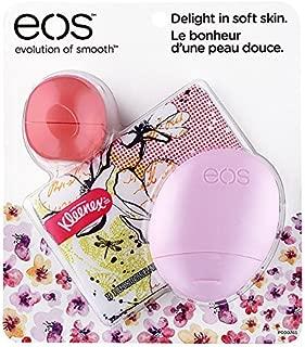 EOS Evolution of Smooth Edición Limitada Floral Bálsamo Labial, Loción y Kleenex Kit