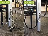 STAYWIRED flexibler Kabelmantel mit Reißverschluss 80 cm schwarz, elegantes Kabelmanagement für bis zu 10 Kabel - 5