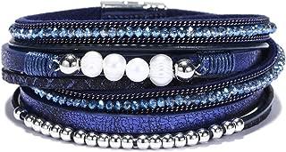 diy multi strand leather bracelet