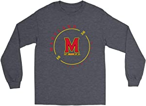 Official NCAA University of Maryland Terrapins - RYLMD11 Mens/Womens Boyfriend Long Sleeve Tee