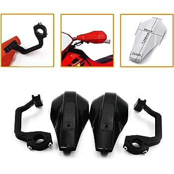 rouge Paire de prot/ège-poign/ées en alliage daluminium 22 mm 28 mm pour moto tout-terrain ATV Dirt Bike Protecteur de guidon de moto Accessoires de course