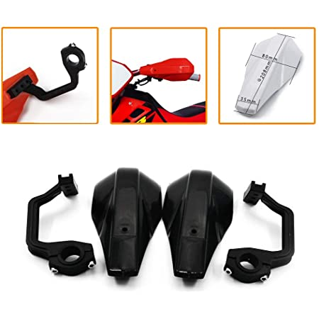 DUILU Universal Motorcycle Hand Guards 7//8 22mm Handle Protector Shield Motorbike Scooter Windproof 1 1//8 28mm Handlebar HandGuards Protection Gear Black