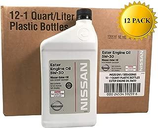 Nissan Genuine OEM 5W-30 Ester Engine Oil GL-4 999MP-5W30EP (Case of 12)