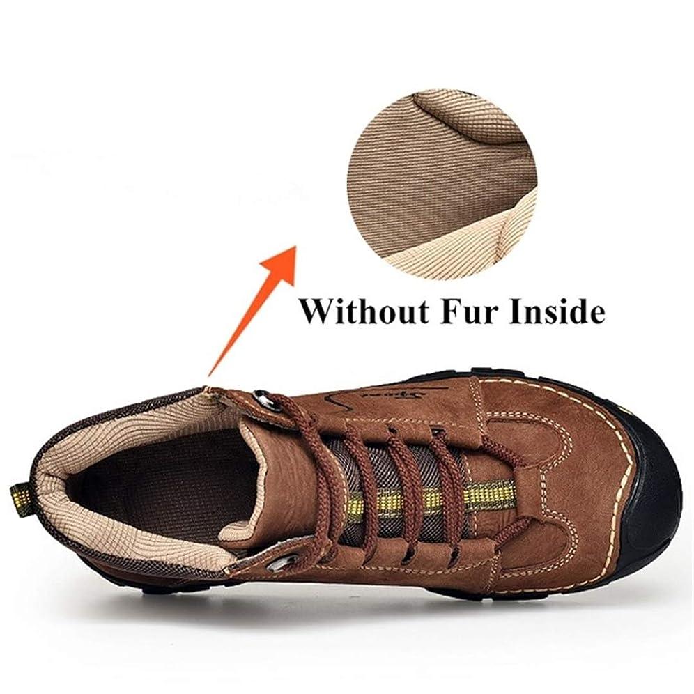 解説取る境界NiuBuLaio 本革 スノーブーツ メンズ シューズ 大人用 冬 ショート プラッシュ メンズ ブーツ アンクルブーツ 快適 作業用フットウェア