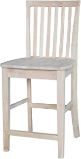 International Concepts 24-Inch Mission Stool, Unfinished