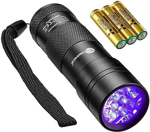 TaoTronics Black Light, UV Blacklight Flashlights, 12 LEDs 395nm, 3 Free AAA Batteries, Detector for Dry Pets Urine &...