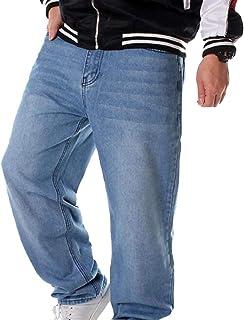 Men Classic Jeans Pants Hip Hop Loose Fit Baggy Jeans Denim Pans