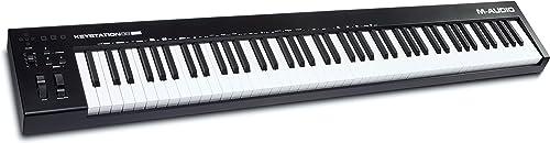 M-Audio Keystation 88 MK3 – Clavier maitre USB MIDI 88 touches semi-lestées pour contrôler les synthétiseurs virtuels...