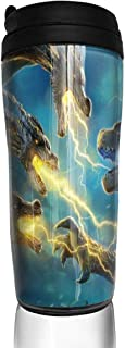 Deborah E Freeman Godzilla King of The Monsters Coffee Cups 12 Oz Large Capacity Thermos Cup with Cover and Leak Proof Travel Mug