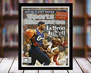 Lebron James Sports Illustrated Autograph Replica Print - Lebron in Full - Cleveland Cavaliers - 4/24/6-8x10 Desktop Framed Print