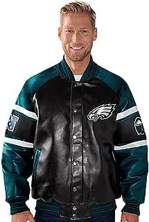 Philadelphia Eagles Faux Leather Jacket Pleather Coat Size Medium