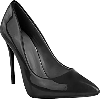 Fashion Thirsty Womens Ladies Black High Heel Court Shoes Smart Formal Occasion Party Size New