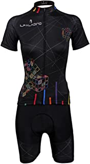 [ILPALADINO] #712 高品質サイクル女性用 短袖 長袖 3Dパッド付き長ズボン パンツ 短長上下セット cycling clothes サイクリングジャージ コンプレッションウェア MTB レーサー