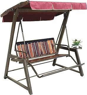 XLOO Outdoor Swing Canopy Hammock Seats,Loveseat Swing,Patio Park Garden Bench,Steel Frame, Rattan Craft, Black,Outdoor Furniture for Gardens, Balconies, Decks
