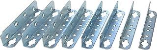 Gedotec Möbelverbinder Metall Bettverbinder HS mit Schlüssellochstanzung   Höhe 127 mm   Einhängeverbinder mit Sicherungslöchern   Winkel Metall verzinkt   8 Stück   Bettwinkel Verbinder zum Schrauben