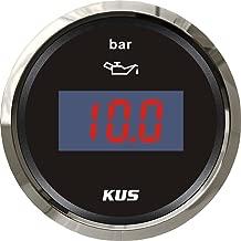 KUS Waterproof Digital Fuel Oil Pressure Gauge Meter 0-10Bar with Backlight 12V/24V 52MM(2