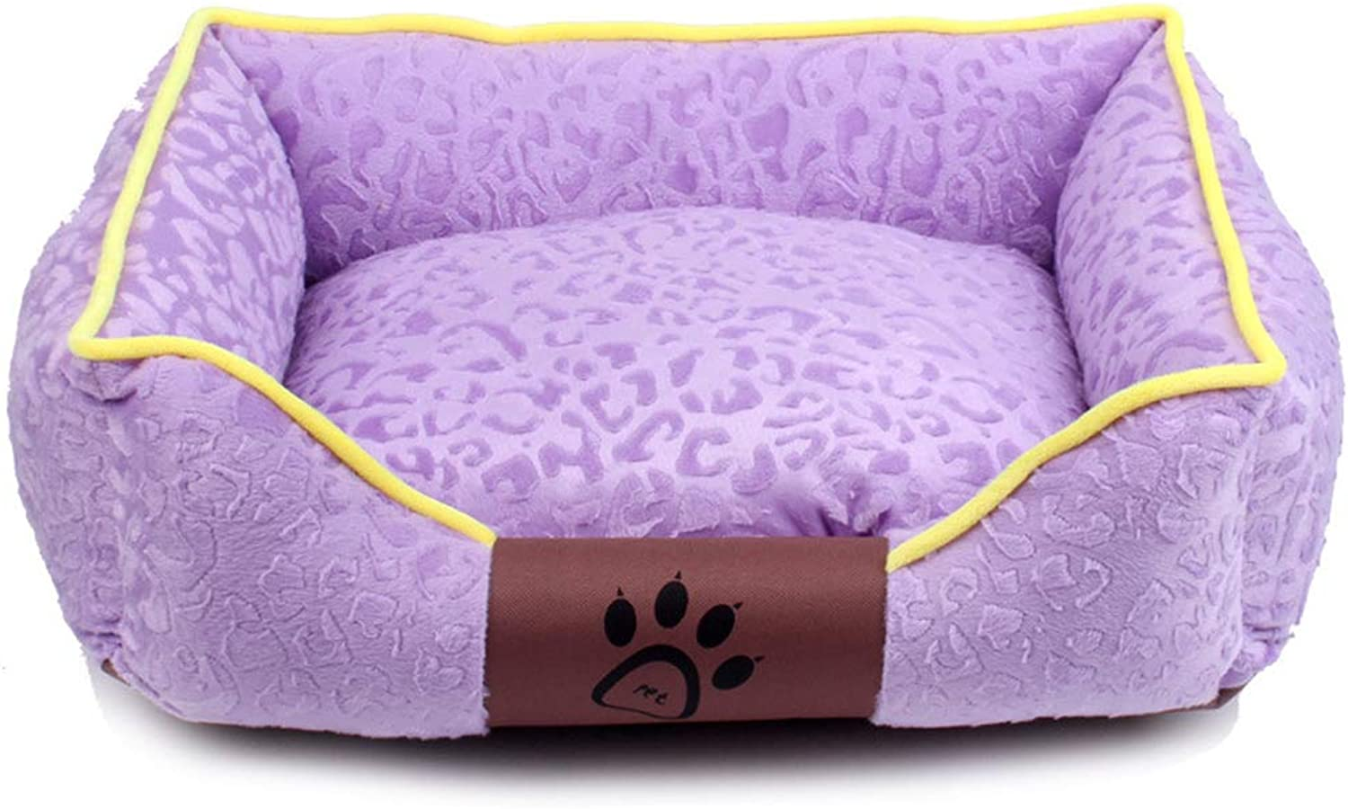 Dog Bed, Four Seasons Breathable ThreeDimensional Flannel Pet Mat Nest Square Keep Warm for Comfortable Moisture Proof Washable Soft Warm Bed (color   A, Size   XL.80x65cm)