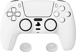 PlayVital Cover Custodia Silicone Antiscivolo per PS5 Controller Case Skin Gomma Protettiva per Dualsense con Copri Levett...