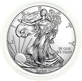 2020 - American Silver Eagle .999 Fine Silver in Direct Fit Air Tite with our Certificate of Authenticity Dollar Uncircula...