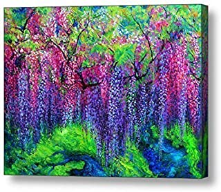 """The Wind Whispers Wisteria - 22.5""""H x 30""""W Canvas Print"""