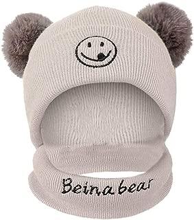 Haluoo 2Pcs Baby Girls Boys Winter Hat Scarf Toddler Infant Warm Knitted Beanie Cap+Scarf Keep Warm Set