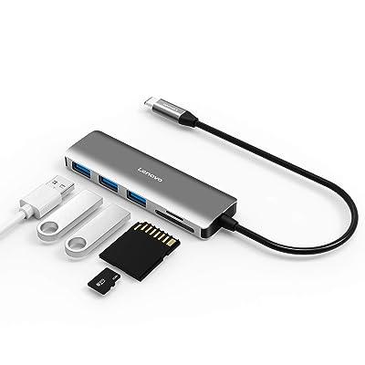 Lenovo USB C Hub, 5 In 1 Type C Adapter